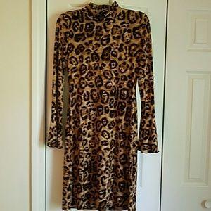 INC Leopard print slinky dress